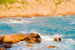 Spiaggia di Shek-O a Hong Kong Fotografia Stock