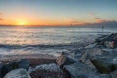 Spiaggia di Sidmouth fotografia stock libera da diritti