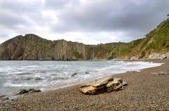 Spiaggia di silenzio Fotografia Stock