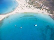 Spiaggia di Simos, Elafonisos Immagini Stock Libere da Diritti