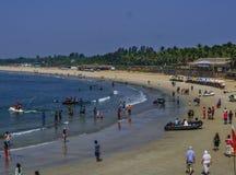 Spiaggia di Sinquerim Fotografie Stock Libere da Diritti