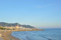 Spiaggia di Sitges Fotografia Stock