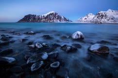 Spiaggia di Skagsanden, isole di Lofoten, Norvegia Immagine Stock Libera da Diritti