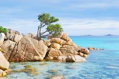 Spiaggia di Smeralda della Costa Fotografie Stock Libere da Diritti