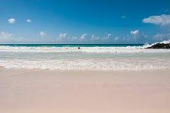 Spiaggia di sogno caraibica Immagini Stock Libere da Diritti