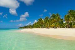 Spiaggia di sogno della Repubblica dominicana Fotografia Stock