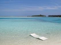 Spiaggia di sogno sulle Maldive Immagini Stock Libere da Diritti