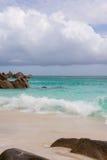 Spiaggia di sogno sulle Seychelles Fotografie Stock