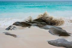 Spiaggia di sogno sulle Seychelles Immagine Stock