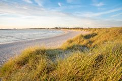 Spiaggia di Sola fuori di Stavanger, Norvegia fotografia stock libera da diritti