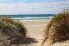 Spiaggia di Sola vicino a Stavanger, Norvegia Immagini Stock Libere da Diritti