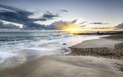 Spiaggia di Solent Immagine Stock