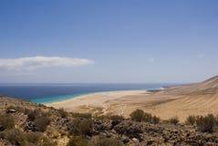 Spiaggia di Sotavento (Fuerteventura, Spagna) Immagini Stock Libere da Diritti