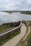 Spiaggia di Southport dopo che le tempeste e le inondazioni, penisola di Fleurieu Fotografia Stock Libera da Diritti