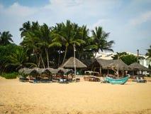 Spiaggia di Sri Lanca Fotografia Stock Libera da Diritti