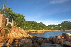 Spiaggia di Stanley in HK Fotografie Stock