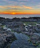 Spiaggia di stato di decano Hollow Tramonto fotografia stock libera da diritti