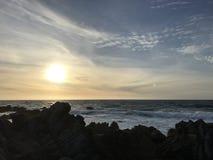 Spiaggia di stato di Asilomar Fotografie Stock