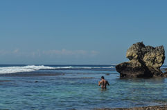 Spiaggia di Suluban Immagini Stock