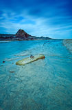 Spiaggia di Summerleaze in blu Immagini Stock Libere da Diritti