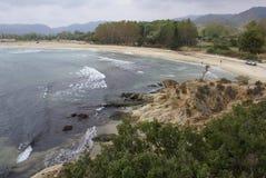 Spiaggia di Sykia Immagine Stock Libera da Diritti