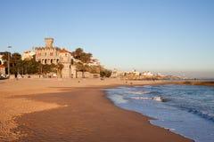 Spiaggia di Tamariz a Estoril Immagini Stock Libere da Diritti