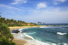 Spiaggia di Tangalle Immagini Stock Libere da Diritti