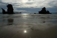 Spiaggia di Tanjung Rhu, Langkawi in Malesia Fotografia Stock