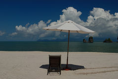 Spiaggia di Tanjung Rhu, Langkawi in Malesia Immagine Stock