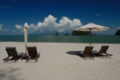 Spiaggia di Tanjung Rhu, Langkawi in Malesia immagine stock libera da diritti