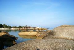 Spiaggia di Tanjung Tinggi fotografie stock libere da diritti