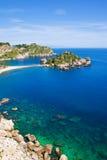 Spiaggia di Taormina Fotografia Stock Libera da Diritti