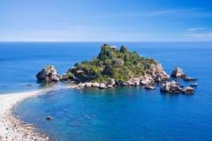 Spiaggia di Taormina Fotografie Stock
