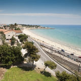 Spiaggia di Tarragona Fotografie Stock Libere da Diritti
