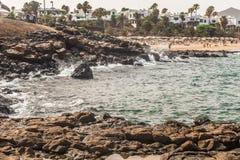 Spiaggia di Teguise Fotografia Stock
