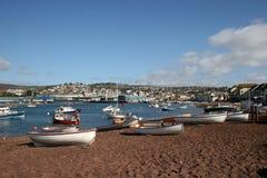 Spiaggia di Teignmouth fotografia stock libera da diritti