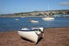 Spiaggia di Teignmouth Fotografie Stock Libere da Diritti
