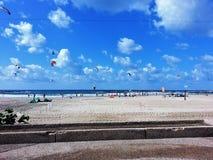 Spiaggia di Tel Aviv, Gerusalemme Fotografia Stock