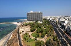 Spiaggia di Tel Aviv, Israele Fotografie Stock Libere da Diritti