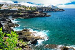 Spiaggia di Tenerife Immagini Stock Libere da Diritti