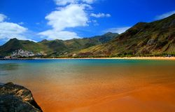 Spiaggia di Tenerife Fotografie Stock Libere da Diritti
