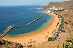 Spiaggia di Teresitas in Tenerife, Isole Canarie, Spagna fotografie stock libere da diritti