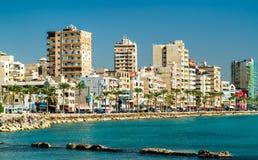 Spiaggia di Tiro nel Libano fotografia stock