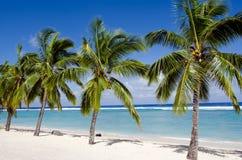 Spiaggia di Titikaveka nel cuoco Islands di Rarotonga Fotografie Stock