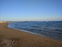 Spiaggia di Titriyengöl del lato di Adalia Manavgat Fotografia Stock