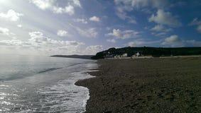 Spiaggia di Torcross Immagine Stock