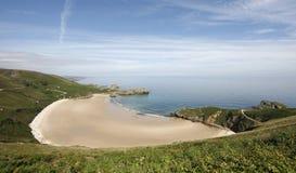 Spiaggia di Torimbia a Llanes. L'Asturia Fotografie Stock