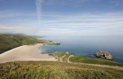 Spiaggia di Torimbia a Llanes. L'Asturia Fotografia Stock Libera da Diritti