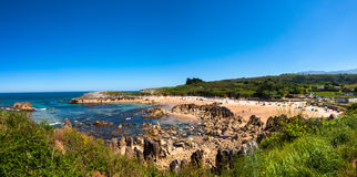 Spiaggia di Toro, Llanes, Asturie Fotografia Stock