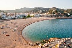 Spiaggia di Tossa Del Mar Immagine Stock Libera da Diritti
